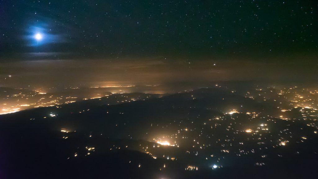 moonrise, aerial image, nightscape, Iran