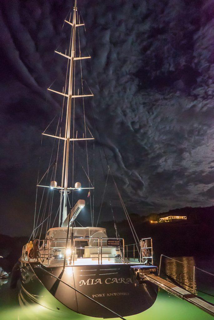 boat, night, Antigua