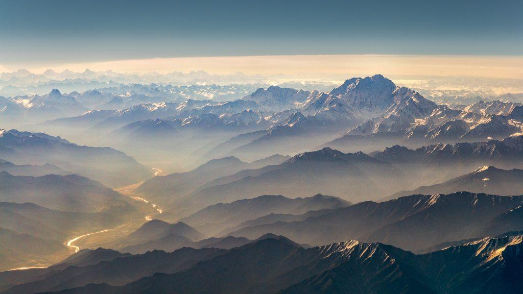 Nanga Parbat, aerial image, Indus River, Karakoram, Pakistan, 8000'er