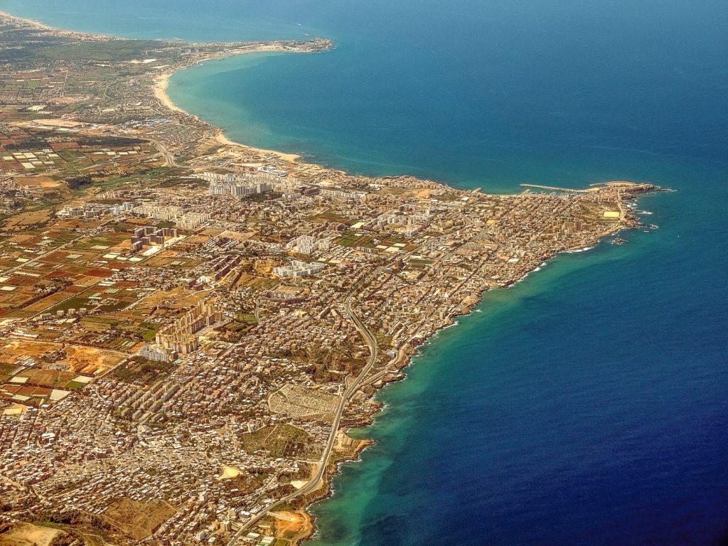 Algeria, Sidi Frej, aerial image