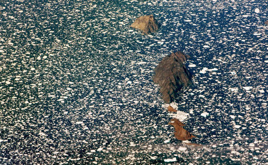 brash, ice, Greenland, aerial image