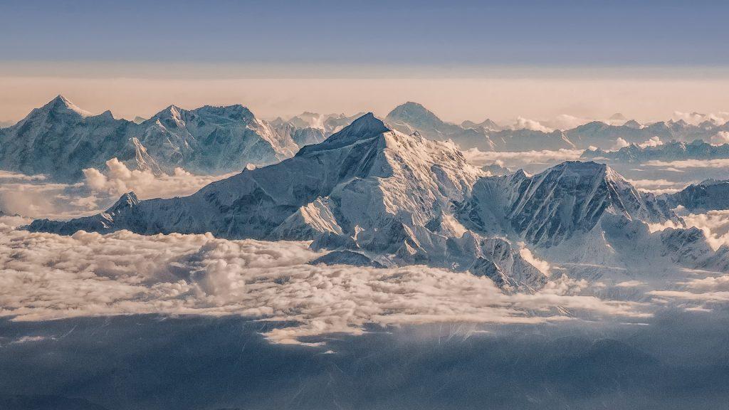 Rakaposhi, Shispare, aerial image, Karakoram