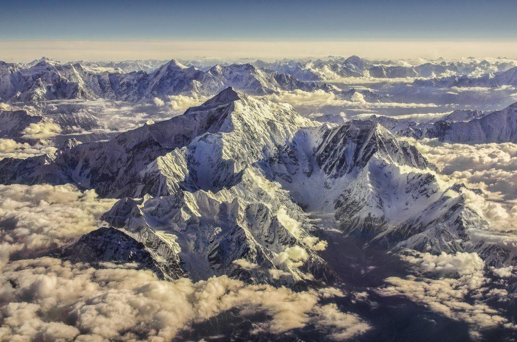Rakaposhi, Karakoram, aerial image, mountains