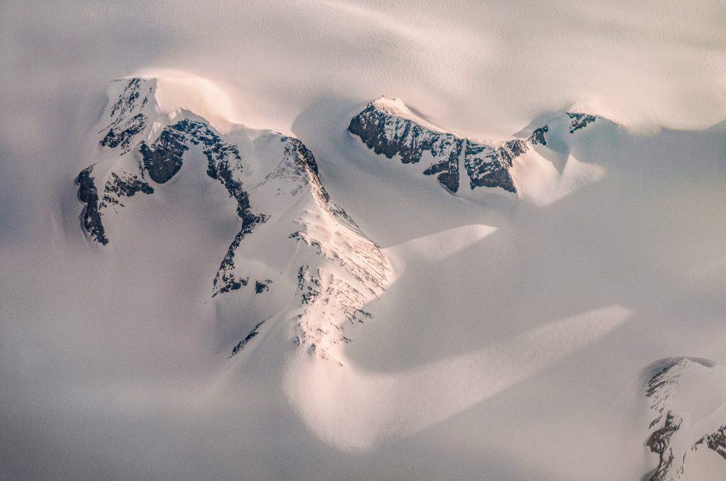 Greenland, ice cap, ice, snow, mountains, aerial image