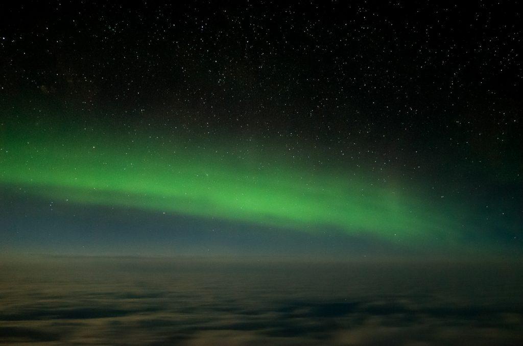 northern lights, erial image
