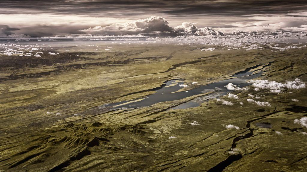rift valley, infrared, aerial image