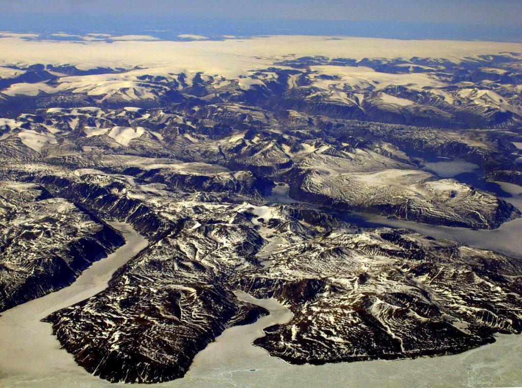 Baffin Island, aerial image baffin, ice cap
