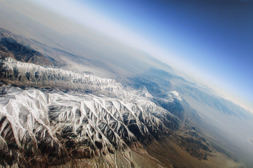 Kunlun, Xinjiang, China, aerial image